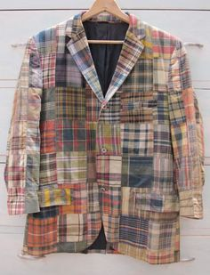 Vintage Chipp patchwork madras jacket.