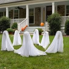 I love it!  Ghosts that will glow at night and freak out the rest of the neighbors during the day >:-)