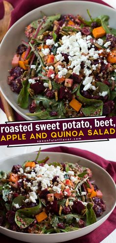 Roasted Sweet Potato, Beet, Apple and Quinoa Salad