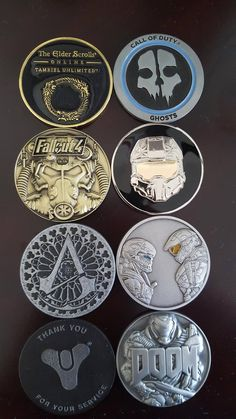 Since everyone liked my Doom coin so much here's the whole collection!