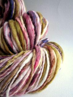 Handspun yarn uk knitting supplies merino thick by thefibretree, £9.99