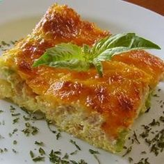 Bacon Cheese Frittata | Five stars for taste, ease of preparation and aesthetic appeal. So versatile! Add whatever you might put in an omelet or scrambled eggs. Great way to use up vegetables in the fridge too! allrecipes.com/...