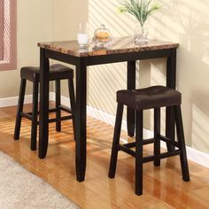 Broyhill Mirren Pointe Round 5 Piece Counter Pub Table Set | For the ...