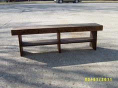 Salvaged wood bench. I love this, and l love the price even more. $80.00 plus $33.00 shipping in the US. Not bad for a solid wood, handcrafted bench. Would be nice in the hallway.
