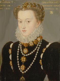 1571 (after) Elizabeth of Austria, Wife of King Charles IX of France by follower of François Clouet (Art Institute of Chicago - Chicago, Illinois, USA) From artic.edu:aic:collections:artwork:107920?search no=6&index=52