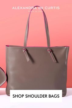 Are you looking for a lightweight and stylish leather tote? Our Milano tote is made for busy days and so lightweight you'll forget you're wearing it! Shop our selection of leather shoulder bags and get 10% off on your first order by subscribing here: www.alexandradecurtis.com/join Italian Leather Handbags, Designer Leather Handbags, Designer Shoulder Bags, Brown Leather Handbags, How To Make Handbags, Women Bags, Italian Fashion, Leather Shoulder Bag, Forget
