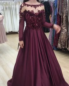 Muslim Evening Dresses, Pakistani Dresses Casual, Indian Gowns Dresses, Indian Fashion Dresses, Barbie Wedding Dress, Red Wedding Dresses, Prom Dresses Long With Sleeves, Dress Prom, Fancy Dress Design