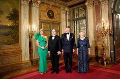 Dutch Queen Maxima, Prince Albert of Monaco, Dutch King Willem Alexander and Queen Beatrice, 2014