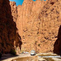 Todra Gorge. A popular climbing spot in Morocco by vandogtraveller