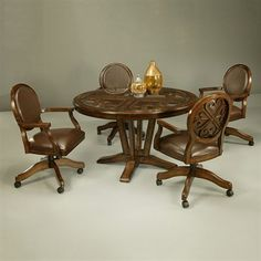 Kitchen Table And Chairs With Wheels kitchen chairs set with casters and table | making an ideal