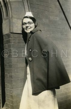 Miss Ruth smiles at the camera, Woman's Hospital of Philadelphia School of Nursing, c. 1930. Image courtesy of the Barbara Bates Center for the Study of the History of Nursing.