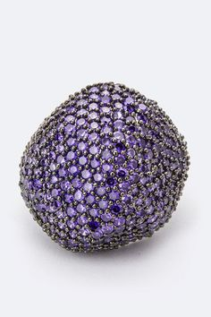 PURPLE ICONIC CZ RING