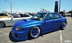 Nice and clean bug-eye blue Subaru WRX