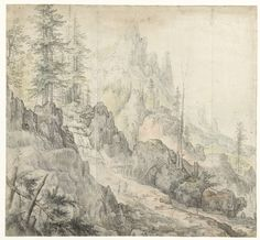 Roelant Savery | Mountain Landscape with a Waterfall, Roelant Savery, 1603 - 1613 |