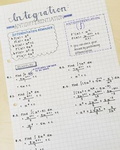 Hey there!🌵 Some more AP math notes to keep you inspired!✨Hope you're all looking forward to FRIDAY! - Don't forget to DM me if you're interested in buying notes like this🔝 - Calculus Notes, Ap Calculus, Math Notes, Algebra, College Math, College Notes, School Notes, School Organization Notes, Pretty Notes