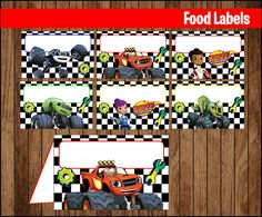 80% OFF SALE Blaze and The Monster Machines Food Tent by youparty Happy 6th Birthday, Baby 1st Birthday, Sons Birthday, 3rd Birthday Parties, Birthday Party Invitations, Blaze And The Monster Machines Party, Blaze The Monster Machine, Monster Truck Party, Monster Trucks