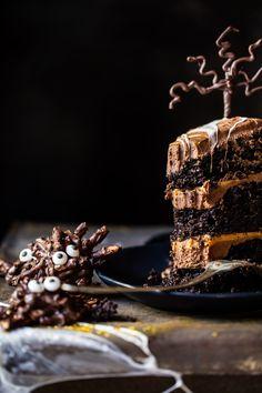 Forbidden Forest Chocolate Butterbeer Cake | halfbakedharvest.com @hbharvest