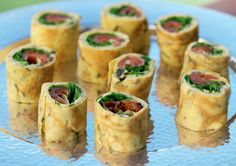 These tasty Salmon & Rocket Omelette Rolls are sure to go down a treat this Christmas Day.