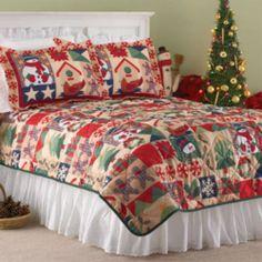 I sooooooo want these Sheet Set (queen size) | Christmas | Pinterest : christmas quilt set queen - Adamdwight.com