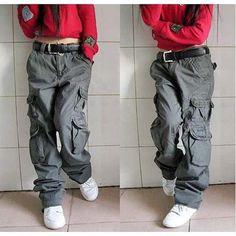 09b2f48b74 Mannelijke En Vrouwelijke Paren Broek Herfst Winter Vrouwen Cargo Broek  Heren Joggers Merken Hip Hop Harem Zwarte Jeans Veel Zakken