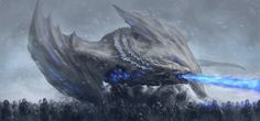 Viserion the white by ElkaArt