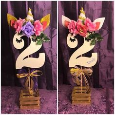 2 Year Old Birthday Party Ideas: Today I share the best ideas of decoration inspired by a birthday party Ideas. Unicorn Themed Birthday Party, First Birthday Parties, Birthday Party Decorations, Girl Birthday, Birthday Ideas, Deco Buffet, Deco Table, Unicorn Centerpiece, Baby Party
