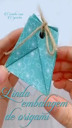 Cool Paper Crafts, Paper Crafts Origami, Origami Paper, Diy Paper, Fun Crafts, Origami Gift Bag, Diy Crafts Hacks, Diy Crafts For Gifts, Diy Home Crafts