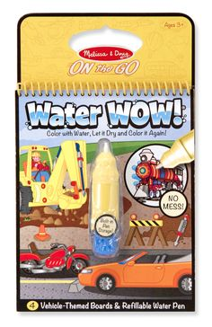 Water WOW Vehicles: No mess painting for kids *Great Easter Basket Stuffer