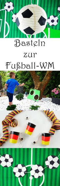 Basteln mit Kindern für die Fußball-Party mit PLAYMOBIL (Contains advertising) Crafts with children to the football party World Cup and European Championship – DIY football decoration and games – also for football birthday – # Crafts For Teens To Make, Diy Gifts For Kids, Gifts For Teens, Diy For Teens, Football Crafts, Dinner Party Decorations, Party World, Football Birthday, Presents For Girls