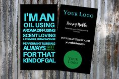 Oil Lover Business Card    Essential Oils        Printable