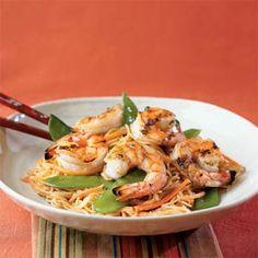7 Ways to Cook With Orange Juice | Orange-Sesame Noodles with Grilled Shrimp | MyRecipes.com