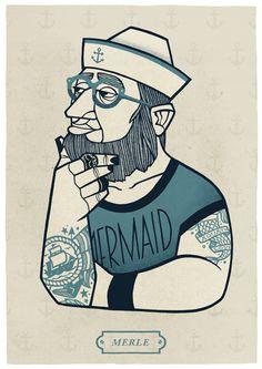 Merle - Sailor Stuff   #illustration #sailor #graphicdesign