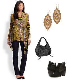3.1.2015: Batik Chic #fuzzi #nydj #miguelases #kooba #aquatalia #cardigan #jeans #top #earrings #bag #boots
