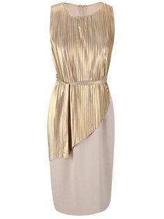 Alchymi - Plisované šaty ve zlato-béžové barvě  Quartz - 1