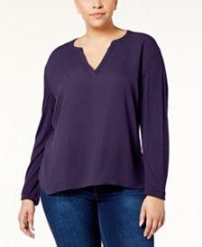 Purple 22W, 3X Plus Size Tops - Macy's