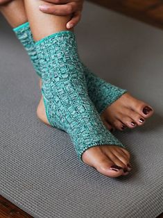 Spacedye Yoga Sock Super soft ribbed socks with large openings at the ankle and toes for traction. The perfect accessory for your yoga class! *By Free People