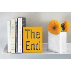 Super Creative Bookends that are Not Your Typical Storybook Ending Bold Words, Color Of The Week, Wooden Bookends, Cool Mom Picks, Flowers Delivered, Office Accessories, Desk Accesories, Mellow Yellow, Bright Yellow