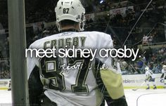 And then he would teach me to play hockey and we would be pals. And he would give me free season tickets. Yep yep.