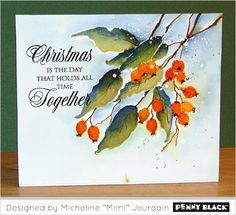 Penny Black saved to Magic of the Season 2016 Introducing Penny Black's newest… Watercolor Christmas Cards, Christmas Drawing, Watercolor Cards, Christmas Art, Handmade Christmas, Watercolour, Card Making Inspiration, Making Ideas, Xmas Cards