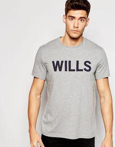 T-Shirt von Jack Wills weiches Jersey Rundhalsausschnitt mit Logoaufdruck reguläre Passform - entspricht den Größenangaben Maschinenwäsche 100% Baumwolle Model trägt Größe M und ist 188 cm/6 Fuß 2 Zoll groß