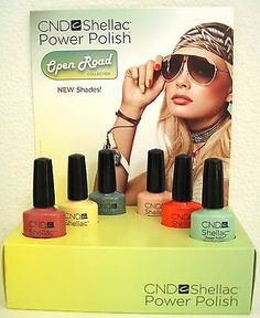 CND Shellac Open Road Spring 2014 Pick Color Clay Poppy Mint Sage Sun Base Top | eBay