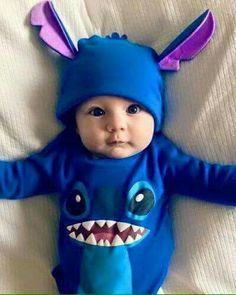 Stitch one piece baby suit