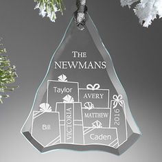 Baby's First Christmas Engraved Ornament | Glass christmas ...