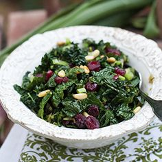 Kale Berry Salad is a delicious way to get this coveted dark, leafy green superfood into your diet. When sliced into ribbons, chewy kale is easier to eat than when trying to eat whole leaves.