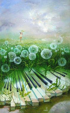 The joyful sounds of Spring with soothing music and dandelions