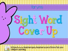 April Sight Word Cover Up- Peeps Style Daily 5 Activities, Sight Word Activities, Literacy Stations, Literacy Centers, Teaching Kindergarten, Teaching Ideas, Fry Sight Words, White Boards, Classroom Games