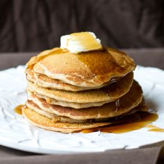 Fluffy Buckwheat Pancakes with hints of cinnamon and vanilla.  Melt-in-your-mouth goodness for your morning!