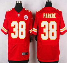 Kansas City Chiefs Jersey 38 Ron Parker Red Team Color NFL Nike Elite Jerseys