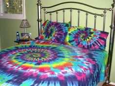 Sweet Dreams Spiral Tie Dye 100 Organic Cotton Sheet by tiedyetodd, $125.00