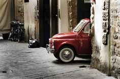 Fiat 500 Florence   Via Vinegia in Florence. This is the ent…   Flickr
